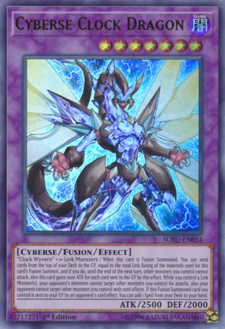 Cyberse Clock Dragon - SOFU-EN034 - Ultra Rare - 1st Edition