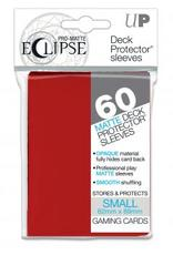 Eclipse Small Deck Protector Sleeves 60ct - Apple Red