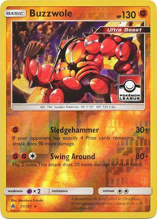 Buzzwole - 77/131 - Pokemon League Promo