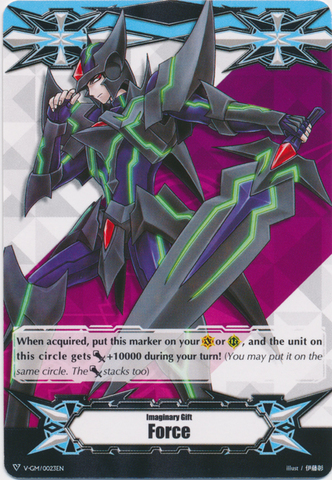 ▽  Imaginary Gift Marker [Force] Blaster Dark Art - V-GM/0023EN (Regular) [V-TD04]