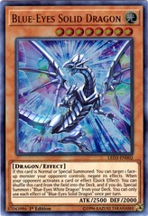 Blue-Eyes Solid Dragon - LED3-EN002 - Ultra Rare - 1st Edition on Channel Fireball