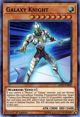Galaxy Knight - LED3-EN040 - Super Rare - 1st Edition on Channel Fireball