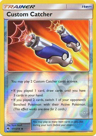 Custom Catcher - 171/214 - Uncommon - Reverse Holo