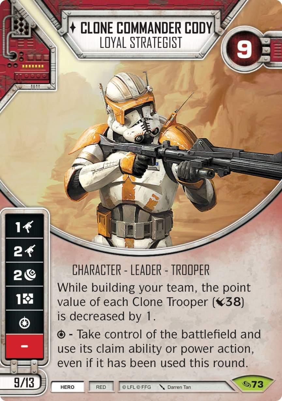 Clone Commander Cody - Loyal Strategist