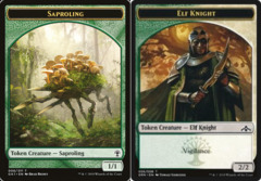Saproling // Elf Knight Token