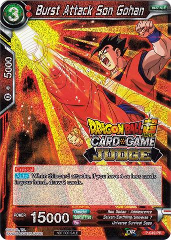 Burst Attack Son Gohan (Judge Promo) - P-049 - PR