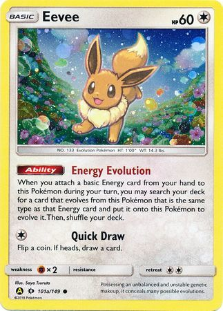 Eevee - 101a/149 - Reverse Holo - Alternate Art Promo