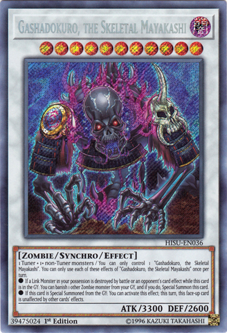 Gashadokuro, the Skeletal Mayakashi - HISU-EN036 - Secret Rare - 1st Edition