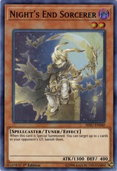 Night's End Sorcerer - HISU-EN040 - Super Rare - 1st Edition
