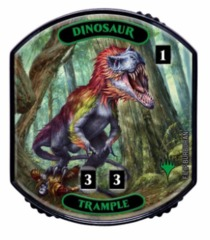 Ultra Pro - Relic Tokens: Lineage Collection - Dinosaur (Trample) - Foil