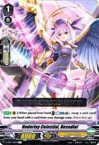 Hesediel Cardfight Vanguard TCG V-EB03//020EN R Rare Card Underlay Celestial