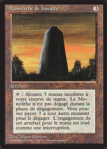 Basalt Monolith - French
