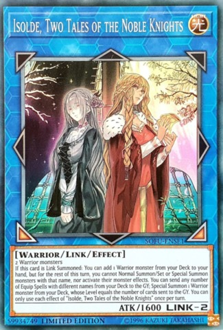 Isolde, Two Tales of the Noble Knights - SOFU-ENSE1 - Super Rare - Limited Edition