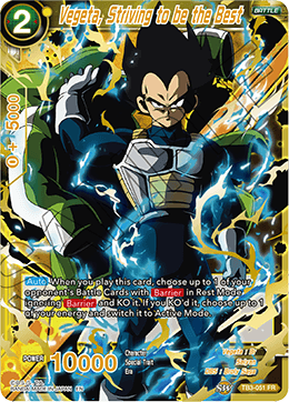 Vegeta, Striving to be the Best - TB3-051 - FR