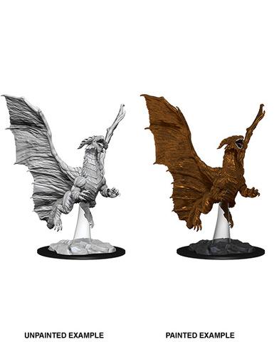 Nolzurs Marvelous Unpainted Minis - Young Copper Dragon