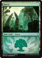 Forest (B08/010) - Foil Ravnica Weekend Promo