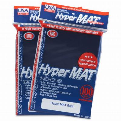 KMC Hyper Matte Blue Sleeves (100ct)