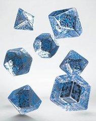 Elvish Dice Set translucent & blue (7)