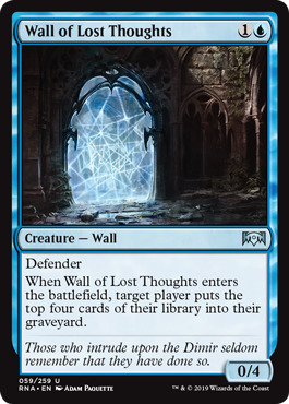 Wall of Lost Thoughts - Foil