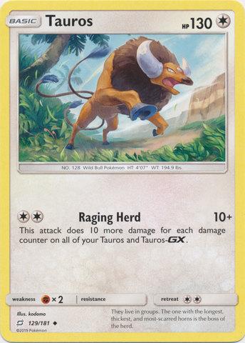 Tauros - 129/181 - Uncommon