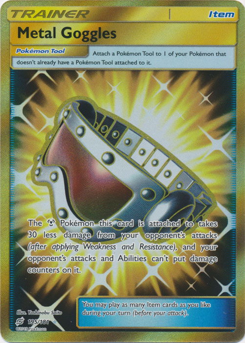 Metal Goggles - 195/181 - Secret Rare - Pokemon Singles