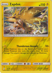 Zapdos - 40/181 - Holo Rare - Reverse Holo on Channel Fireball