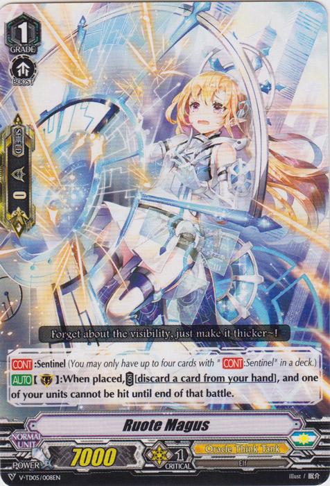 Ruote Magus - V-TD05/008 - TD - Cardfight Vanguard Singles