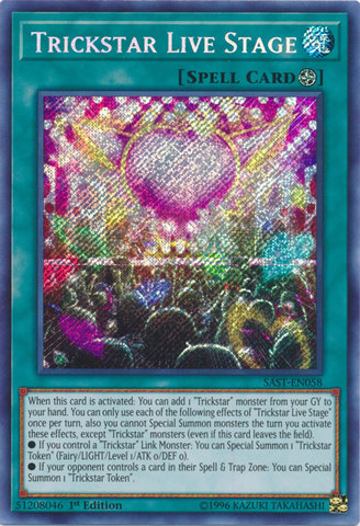 Trickstar Live Stage - SAST-EN058 - Secret Rare - 1st Edition
