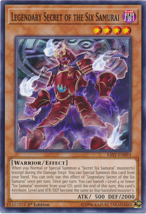 Legendary Secret of the Six Samurai - SAST-EN093 - Common - 1st Edition