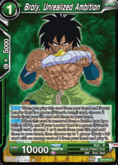 Broly, Unrealized Ambition - BT6-063 - C on Channel Fireball