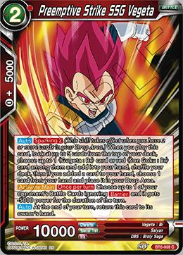 Preemptive Strike SSG Vegeta - BT6-008 - C