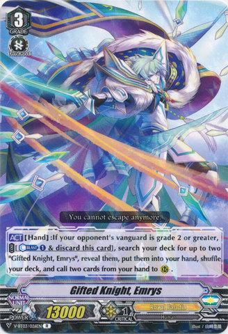 Gifted Knight, Emrys - V-BT03/026EN - R