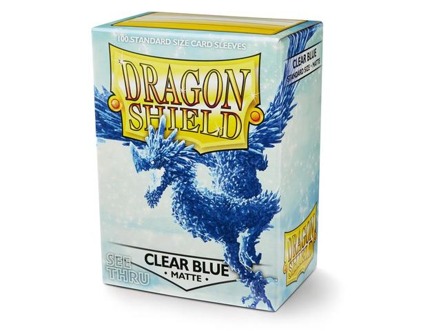 Dragon Shield Sleeves: Matte Clear Blue (Box Of 100)