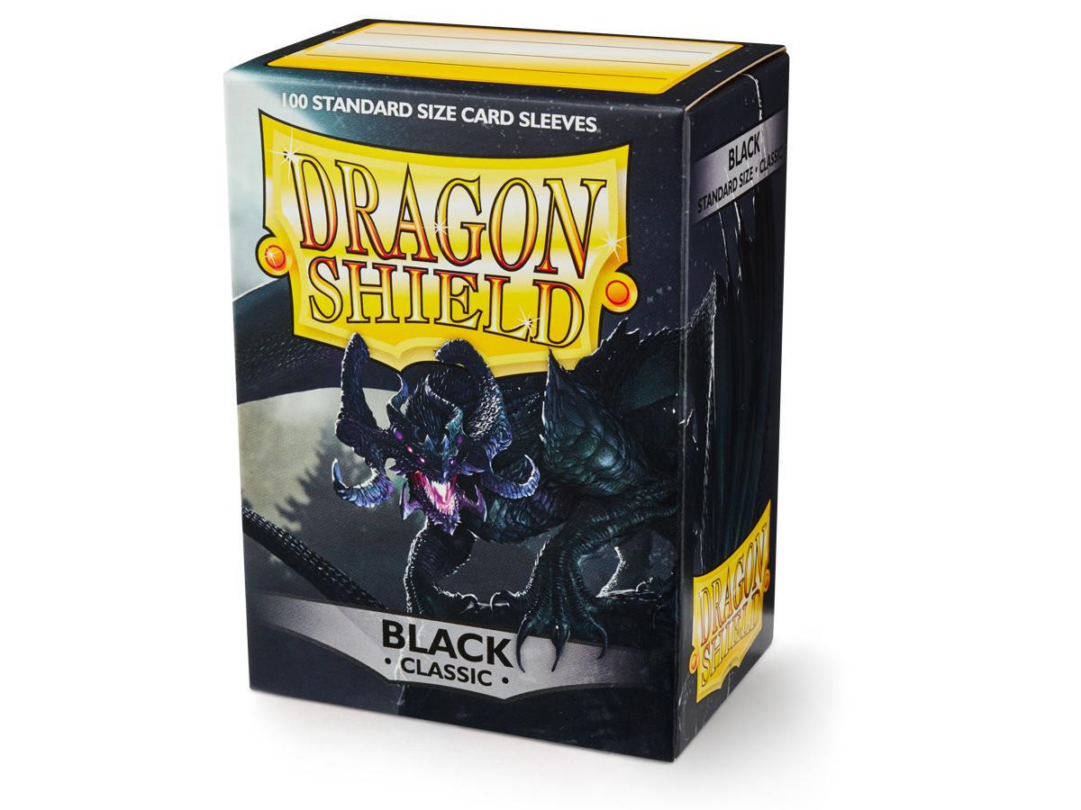 Dragon Shield Sleeves: Classic Black - Standard - (Box of 100)
