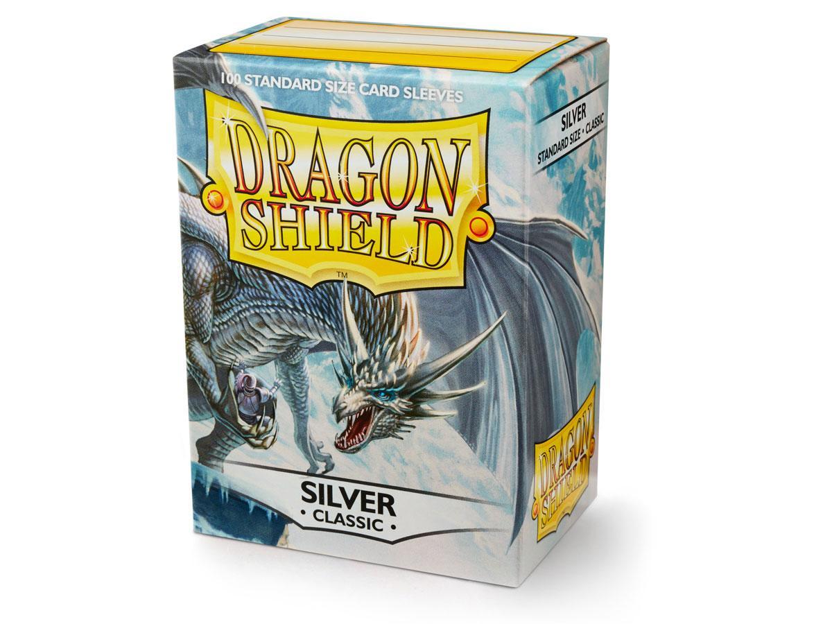 Dragon Shield Sleeves: Classic Silver  - Standard - (Box of 100)