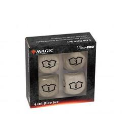 Ultra Pro - Deluxe 22MM White Mana Loyalty Dice Set for Magic: The Gathering