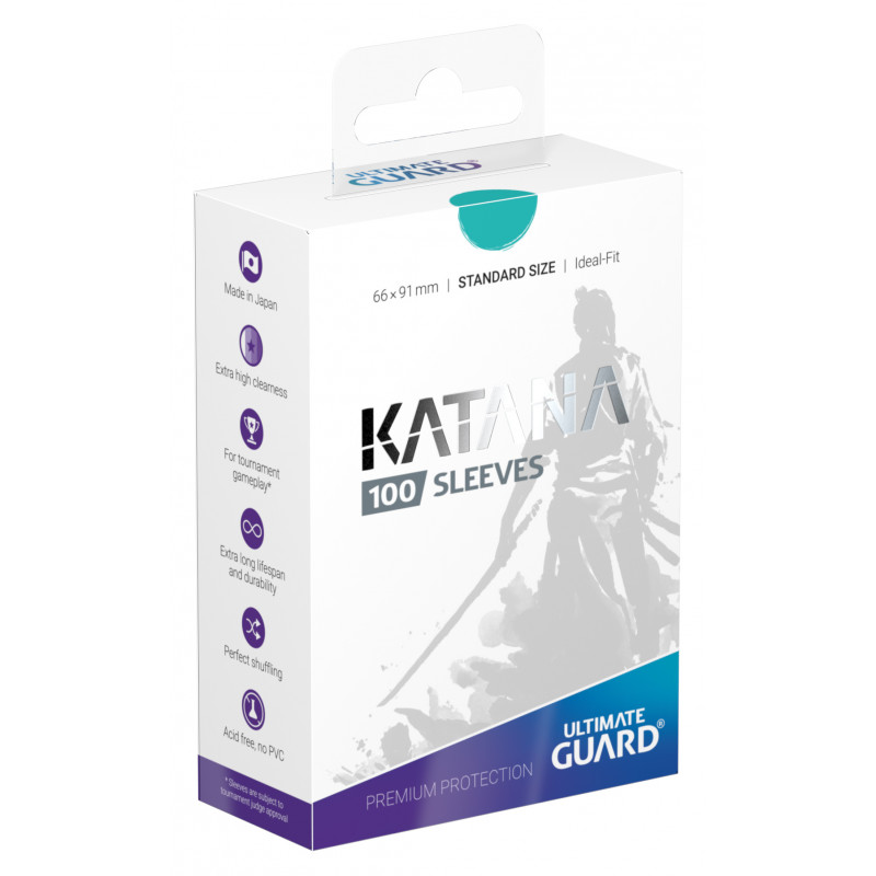 Ultimate Guard Standard Katana Sleeves Turquoise 100ct
