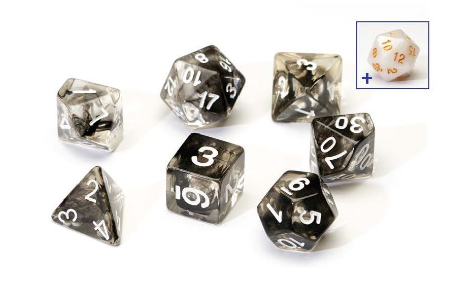 Dice Set - Black Cloud