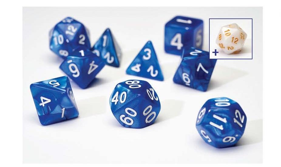 Dice Set - Blue Pearl