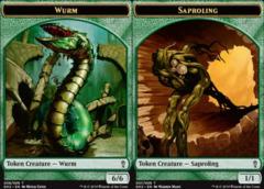 Saproling Token (007) // Wurm Token (008)