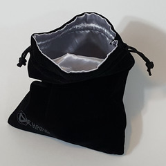 Large Satin-Lined Velvet Bag