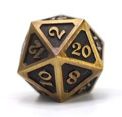 Big D20 - Mythica Battleworn Gold