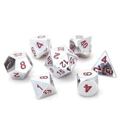 Classic Silver Ruby - Metal Dice Set