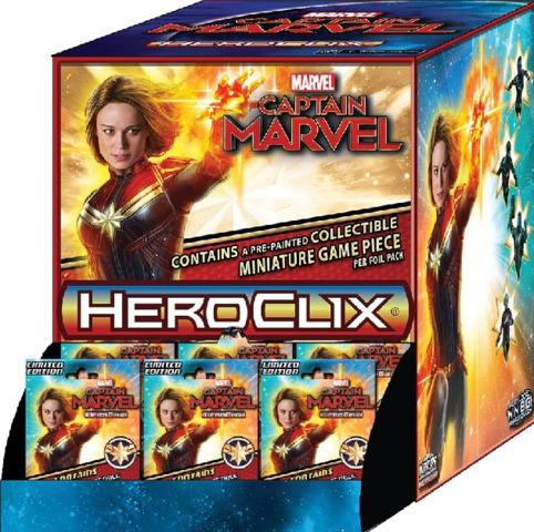 Marvel HeroClix: Captain Marvel Movie Gravity Feed Display