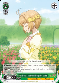 Sakura: Befriending the Card - CCS/WX01-042 - U