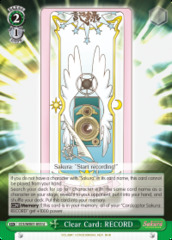 Clear Card: RECORD - CCS/WX01-053 - U