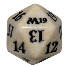 Magic Spindown Die - Core Set 2019 - White