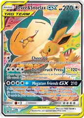 Eevee & Snorlax GX - SM169 - SM Black Star Promo on Channel Fireball