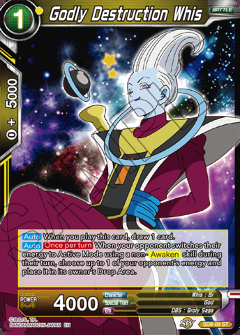 Godly Destruction Whis - SD8-09 - ST - Parallel Foil