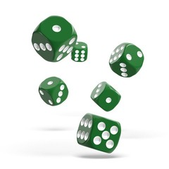 Oakie Doakie Dice - D6 Solid Green 16mm Set of 12 (ODD410025)